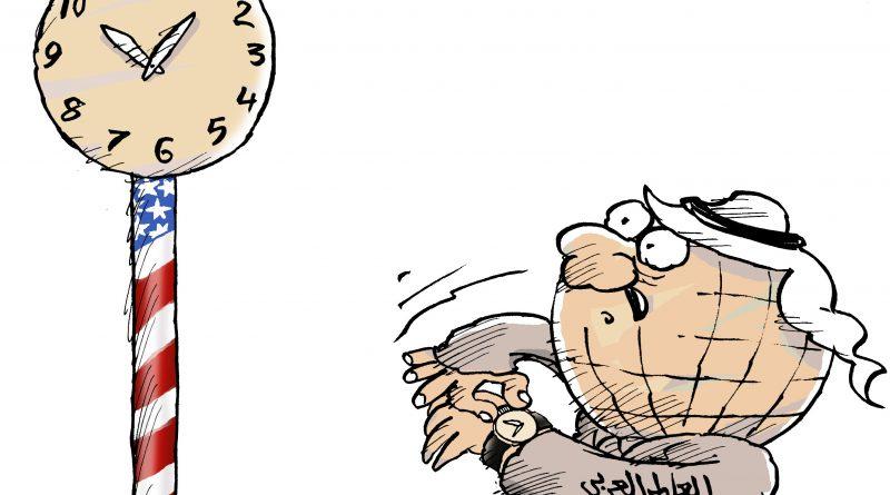كاريكاتير  ساعة الانتخابات الامريكية سبتمبر 15, 2020 الف باء شارك  خضير الحميري 3455-800x445