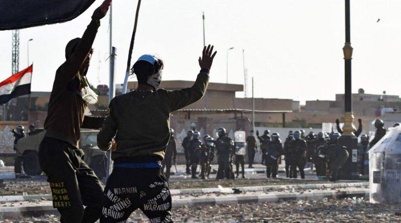 الاحتجاجات الشعبية تتواصل من جديد في المحافظات الجنوبية في العراق